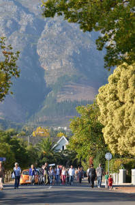 Franschhoek during the FLF